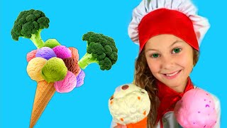 Do You Like Broccoli Ice Cream? | Nursery Rhymes & Kids Songs with Eva Surprise