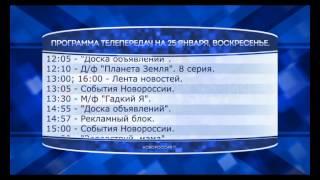 Программа телепередач на 25 января 2015 года
