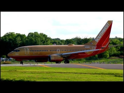 30 MINUTES OF EVENING PLANE SPOTTING AT ALBANY (Classic retro one, united 737, and more!)