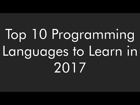 Top 10 Programming Language to Learn in 2017