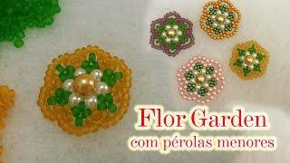 Flor Garden com Pérolas Menores