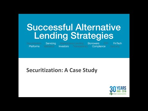 Securitization:  A Case Study