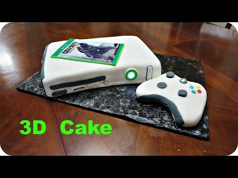 How To Make An Xbox 3D Fondant Cake