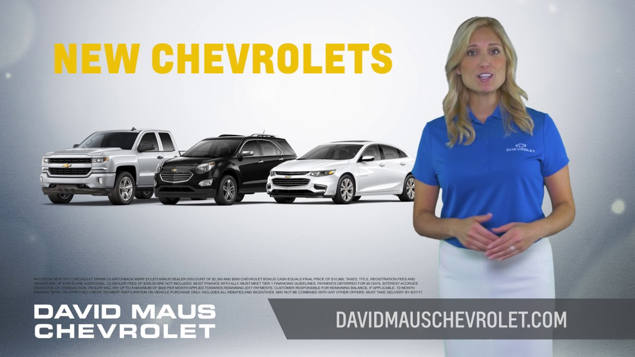 David Maus Chevy >> David Maus Chevrolet Clearance Event