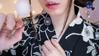ASMR PREMIUM Ear Cleaning👂✨ Japanese Whispering (Yukata, Kimono, 60fps)