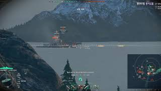 WOWS Secondary focused GK in Arms Race/11.1 km detection!
