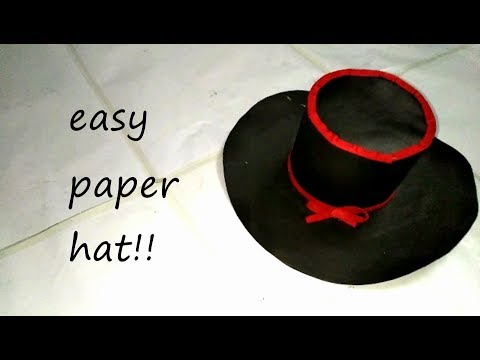 Paper Hat - Origami Top Hat tutorial - DIY