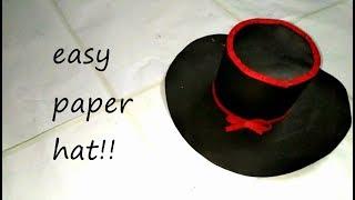Paper Hat - Origami Top Hat tutorial - DIY