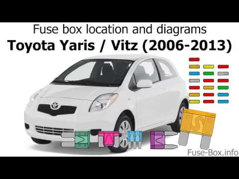 Fuse       box    location and diagrams  Toyota Yaris  Vitz  Belta  20062013   YouTube