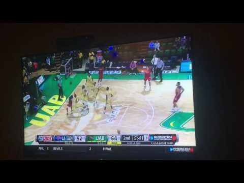 UAB VS LA Tech 4 on 5 college ball after brawl
