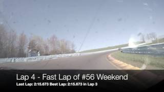 AER. The Glen. Josh Race Start Sunday, April 23, 2017. 2:13 fast time.