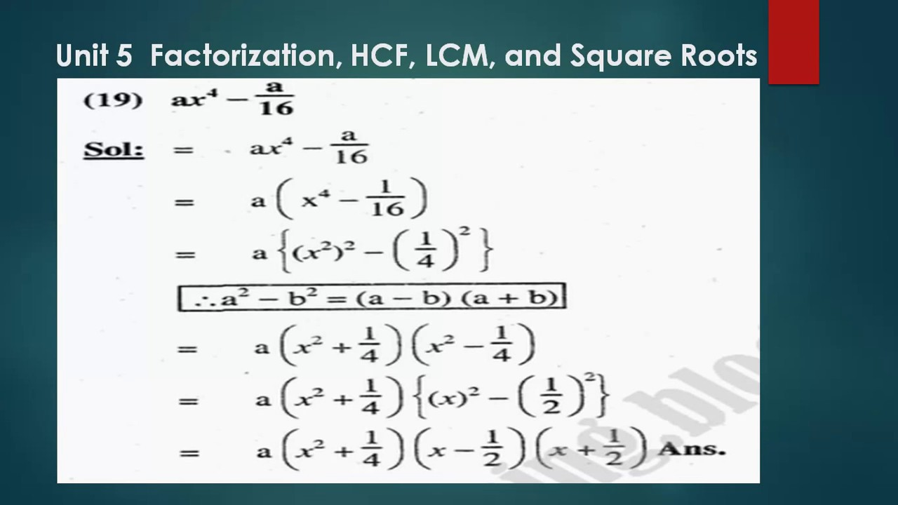 Exercise 5 1 Matric Math || Unit 5 Complete Solution