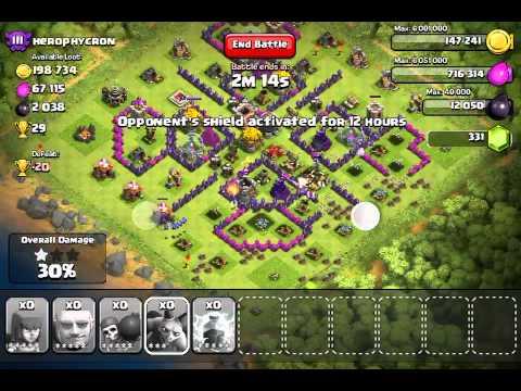 Clash Of Clans trophies glitch