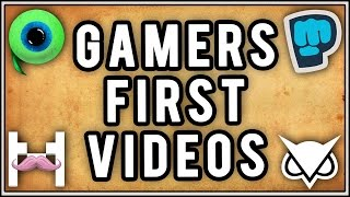 Reacting to Gamers First Videos!
