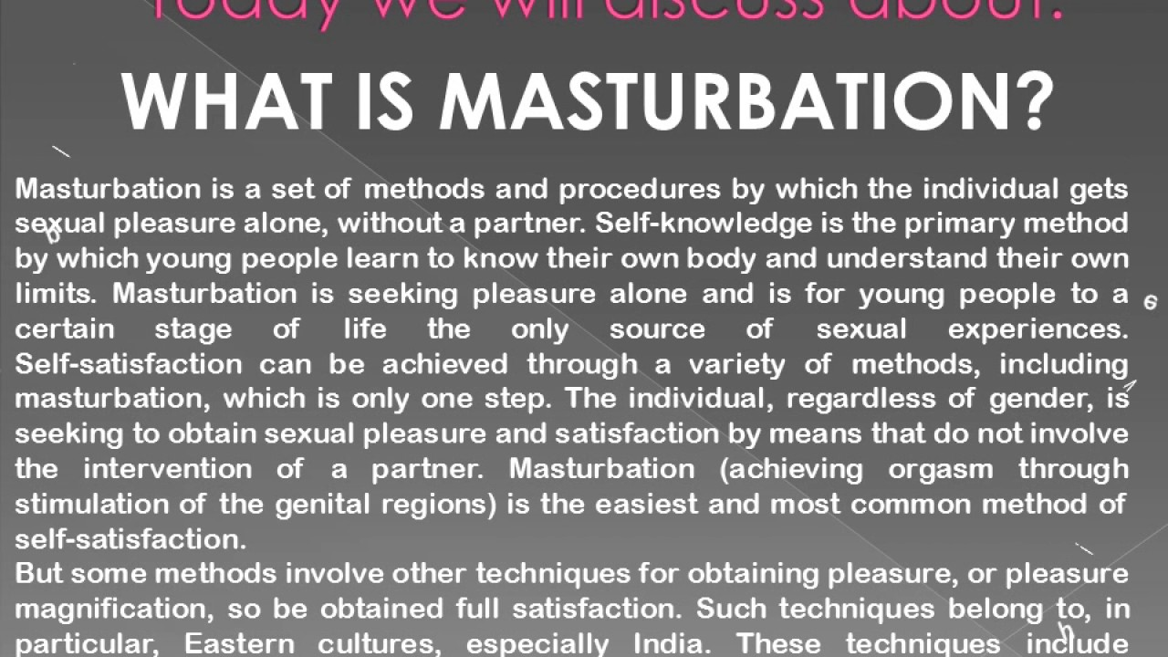 What is masturbation 7
