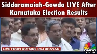 Siddaramaiah-Gowda LIVE After Karnataka Election Results | Congress-JDS Alliance to Form Govt