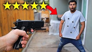 I Bought A 100% UNBREAKABLE T-SHIRT!! (5 STARS) BULLET PROOF