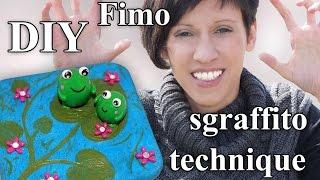 FIMO Sgraffito Froschteich: Polymer Clay Frog Pond - Tutorial [HD/DE] (EN-Sub)