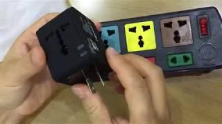 Ổ Cắm Điện Đa Năng có 2 cổng USB 2 1A cho công tác nước ngoài