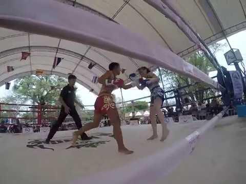 Muay Thai Boxing. Kularbdam v AI (round 4) Wai Kru Muay Thai Ceremony 2019 Ayutthaya. Great fight.