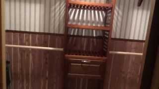 Finished Product Of Cedar Closet