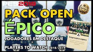 PES 2019 MYCLUB - FIZ UM PACK OPEN ÉPICO! - JOGADORES EM DESTAQUE