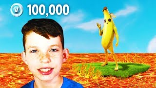 His Little Brother got 100,000 V-Bucks if he SURVIVES.. (Noob vs. Brother)
