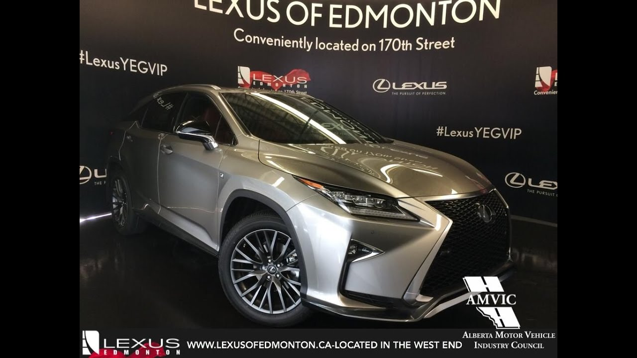 2017 Atomic Silver Lexus Rx 350 Awd F Sport Series 2 In Depth Review West Edmonton Alberta You