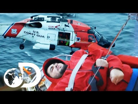 Extremely Tricky Emergency Airlift Rescue On Rough Sea | Deadliest Catch