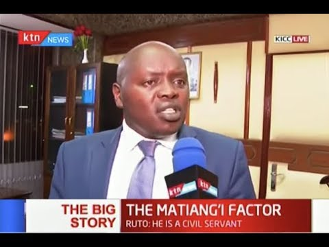 THE MATIANG\'I FACTOR: CS is under fire from DP Ruto allied leaders Part One   THE BIG STORY