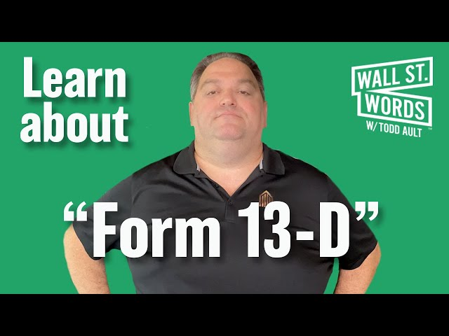 Wall Street Words word of the day = Form 13-D