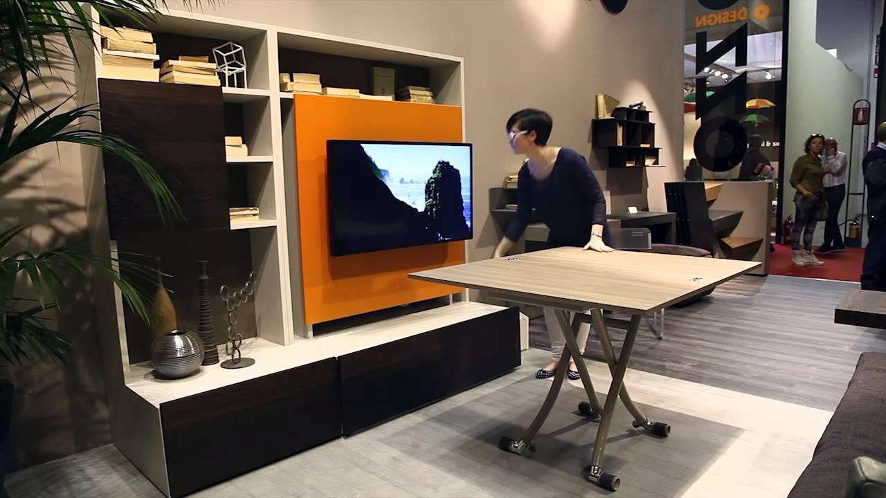 Smart Living by Ozzio Design  mobile porta tv con tavolo