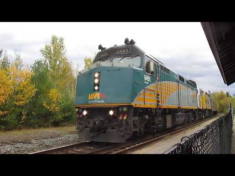 VIA Rail 1 (Canadian) Arriving & Departing Parry Sound CP Station
