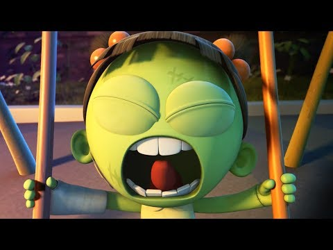 Funny Animated Cartoon | Spookiz Brand New Scary Swing Jump Challenge | Cartoon for Children