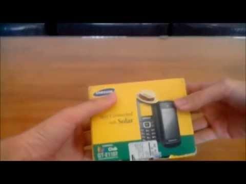 Unboxing Samsung GT E1107 Bertenaga Matahari