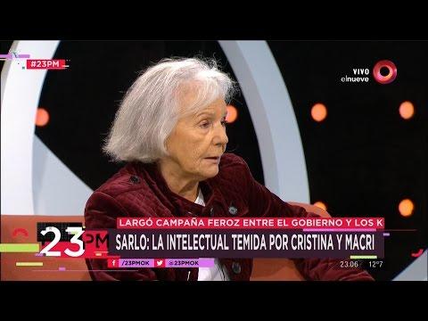 """Beatriz Sarlo en """"23 PM"""", de M.Montenegro - 15/05/17"""