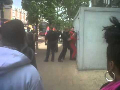 Tottenham jobcentre big mama resists arrest lool