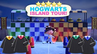 Hogwarts Island Tour!(700 Hours) 5 Star Island Tour in Animal Crossing New Horizons