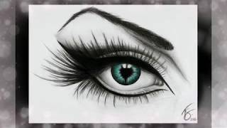 100+ Best Beautiful and Realistic Pencil Drawings of Eyes DIY - The best on YouTube