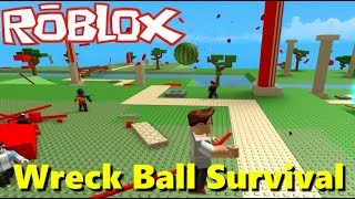 ROBLOX - The Watermelon We Attack !!! 🍉 - WRECK BALL SURVIVAL