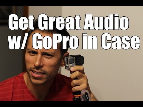 How to get better audio👂 with GoPro in a waterproof case