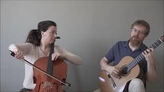 Isaac Albeniz - Rimas de Bécquer - 3rd mvt. - Cello Guitar Duet Duo Vitare