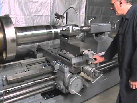 Timemaster Lathe turning huge stock from industrial ...