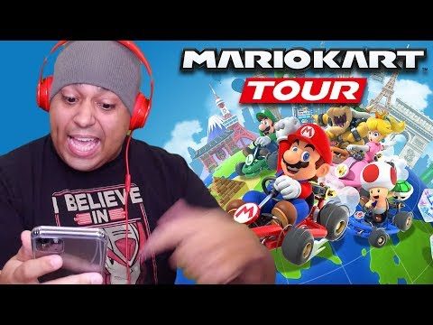 IT'S FINALLY HERE!!! NEW MARIO KART GAME!! [MARIO KART TOUR] [iOS]