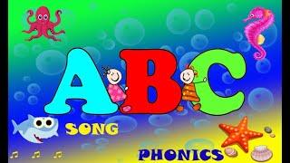 Baby shark ABC for Children. Learn phonics for kids-English alphabet sounds | ABC song-Nursery rhyme