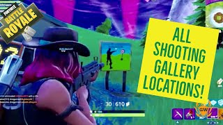 ALL LOCATIONS! WEEK 4 CHALLENGES FORTNITE! Get a score of 3 or more at different Shooting Galleries!