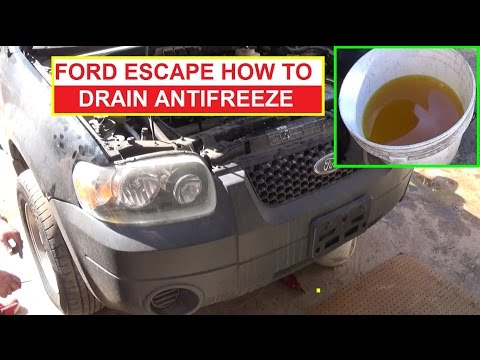 How to drain the Coolant Antifreeze on Ford Escape, Mercury Mariner, Tribute First Generation