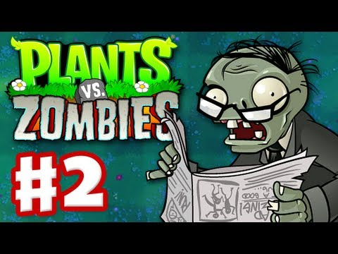 Plants vs. Zombies - Gameplay Walkthrough Part 2 - World 2 (HD)