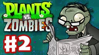 Plants vs. Zombies - Gameplay Walkthrough Part 2 - World 2 (HD)