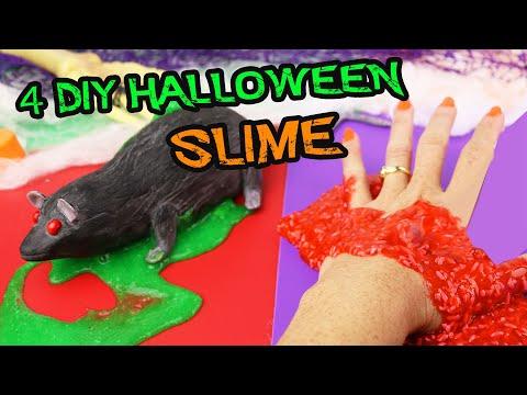 Te atreves a hacer SLIME en Halloween? 4 tenebrosos DIY | Manualidades aPasos